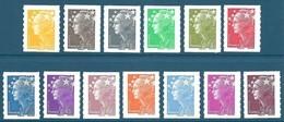 Timbres N°175a, 179a Et 208 à 218 Marianne De Beaujard 13 Valeurs Autoadhésif Neuf** - Autoadesivi
