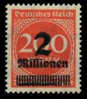 D-REICH INFLA Nr 309AWb Postfrisch Gepr. X6D6186 - Deutschland