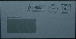 Belgium - Advertising Meter Franking Cover 2007 Antwrpen Logo Ford - 2000-...