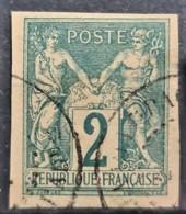COLONIES FRANCAISES 1877/79 - Canceled - YT 30 - 2c - Sage