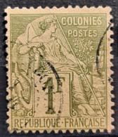 COLONIES FRANCAISES 1881 - Canceled - YT 59 - 1F - Alphée Dubois