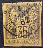 COLONIES FRANCAISES 1878/80 - Canceled - YT 45 - 35c - Sage