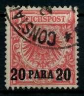 DEUTSCHE AUSLANDSPOSTÄMTER TÜRKEI Nr 7b Gestempelt X705DF2 - Deutsche Post In Der Türkei