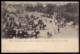 Postal Antigo LISBOA Ambulancias Militares. Old Postcard RED CROSS Ambulances Horse Coaches 1900s PORTUGAL - Lisboa