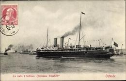 Cp Ostende Westflandern, Dampfer, La Malle Princesse Elisabeth - Non Classés