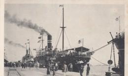 Dalian China, Dairen Port Arthur, Ship Kagimaru At Wharf Dock In Harbor, C1920s/30s Vintage Postcard - China