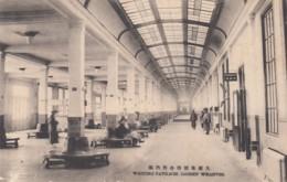 Dalian China, Dairen Port Arthur, Waiting Pavilion At Wharves, C1920s/30s Vintage Postcard - China