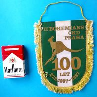 FC BOHEMIANS Praha (Prague) 100. ANNIVERSARY Old Football Pennant * Czech Republic * Soccer Fussball Futbol Foot Calcio - Kleding, Souvenirs & Andere