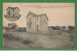 17 - Charente Maritime -  Chatelaillon - Rare Cpa : Villa Ste Cécile Boulevard De L ' Ocean - Vue Sur Mer Et Iles - Châtelaillon-Plage