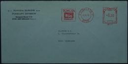 Belgium - Advertising Meter Franking Cover 1975 Siniklaas Toyota B3271 - Franking Machines