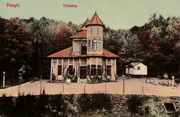 PITESTI / ARGES : TRIVALEA [ RESTAURANT / BERARIE ] ~ 1905 - '910 (ae792) - Roumanie