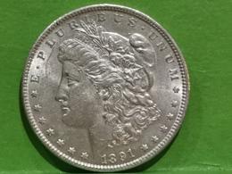 """1 Dollar """"Morgan Dollar"""" 1891 - Federal Issues"""