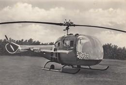 ELICOTTERO-HELICOPTERE-HELICOPTERO-HUBSCHRAUBER-CARTOLINA VERA FOTOGRAFIA-NON VIAGGIATA-DATATA 19-9-1959 - Elicotteri