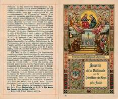 IMAGE PIEUSE SOUVENIR DE NOTRE DAME DES ANGES - Saint François Obtient L'indulgence De La Portioncule Avec Relique - Images Religieuses