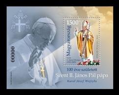 Hungary 2020 Mih. 6126I (Bl.438I) Pope John Paul II (black Number) MNH ** - Hungría