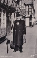 Ribe Denmark Town Crier At Restaurant Vintage Real Photo Postcard - Dänemark