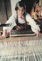 Skansen Stockholm Delsbogarden Fran Halsingland Sewing Embroidery Postcard - Svezia