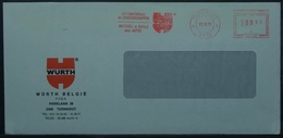 Belgium - Advertising Meter Franking Cover 1979 Turnhout Logo Wurth BPU1921 - Franking Machines
