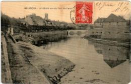 51gth 826 CPA - BESANCON - LES QUAIS VUE DU PORT DE CANOT - Besancon