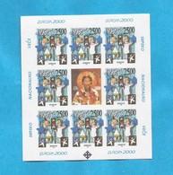 2000 EUROPA CEPT KOSOVO SERBIEN PART SERBIA  10 X BLOK MNH - 2000