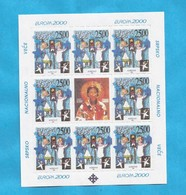 2000 EUROPA CEPT KOSOVO SERBIEN PART SERBIA  10 X KLB- 80 STAMPS MNH - 2000