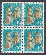 Switzerland, Scott #B351, Used, Marmots, Issued 1965 - Suisse