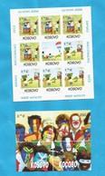 2006  EUROPA CEPT KOSOVO SERBIEN PART SERBIA   INTEGRATION 10 X KLB-40 SETS  PLUS 10 BLOKS MNH - 2006