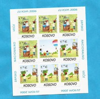 2006  EUROPA CEPT KOSOVO SERBIEN PART SERBIA   INTEGRATION 10 X KLB-40 SETS   MNH - 2006