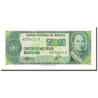 Billet, Bolivie, 50,000 Pesos Bolivianos, D.1984, 1984-06-05, KM:170a, NEUF - Bolivien