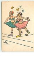 Deux Hommes Déguisés En Danseuses - Camp De Bar-le-Duc - Edité Par La Famille Du Prisonnier De Guerre - Humoristiques