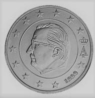 MONNAIE 5 Cent 1999 BELGIQUE Euro Fautée Non Cuivrée Etat Superbe - Abarten Und Kuriositäten