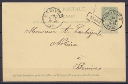 EP CP 5c (N°56) De Fumal Càd HUY (NORD) /18 OCT 1900 Pour BRAIVES - Griffe [FUMAL] - Cartoline [1871-09]
