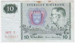 Sweden P 52 D - 10 Kronor 1977 - Fine+ - Suecia