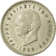 Monnaie, Grèce, Paul I, 10 Drachmai, 1959, TTB+, Nickel, KM:84 - Greece