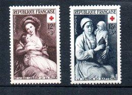 G12 Superbe Paire Croix Rouge N° 966 + 967 **  !!! - Ongebruikt