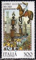 ITALIA REPUBBLICA ITALY REPUBLIC 1983 FOLKLORE FOLCLORE ITALIANO CORSA DEI CERI A GUBBIO LIRE 300 MNH - 1981-90: Mint/hinged