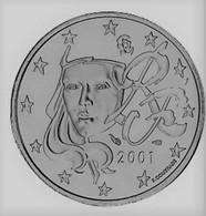 MONNAIE 5 Cent 2001 France Euro Fautée Non Cuivrée Etat Superbe - Variétés Et Curiosités