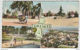 MADAGASCAR FOULPOINTE AVENUE DE L'INDEPENDANCE PISCINE MUNICIPALE TAMATAVE VUE AERIENNE CPSM 9X14 1964 - Madagascar
