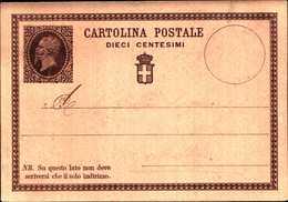 59815) INTERO POSTALE DA 10C.VITTORIO EMANUELE II -NUOVO-1874 - 4. 1944-45 Repubblica Sociale