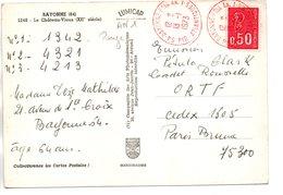 Sur CP, Dateur Rouge BAYONNE Ppal  1973 - 1961-....