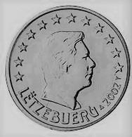 MONNAIE 1 Cent Euro LUXEMBOURG 2002 Euro Fautée Non Cuivrée Etat Superbe - Variétés Et Curiosités