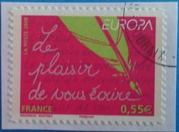 France 2008  : Europa. L'écriture D'une Lettre N° 207 Oblitéré - France