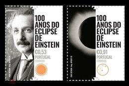 Portugal 2019.Albert Einstein.Eclipse.2v MNH** - Europa