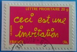 """France 2008  : Timbre De Message """"ceci Est Une Invitation"""" N° 204 Oblitéré - France"""