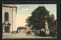 AK Edenkoben, Partie Am Ludwigsplatz Mit König Ludwigs Denkmal - Edenkoben