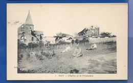 SACY    L'Eglise Et Le Presbytère    Animées - Other Municipalities