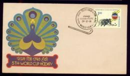 SPORTS- FILED HOCKEY-5th WORLD CUP HOCKEY-FDC-INDIA-1981-IC-212-9 - Hockey (Field)