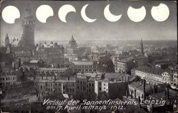 Cp Leipzig In Sachsen, Sonnenfinsternis 17 April 1912 - Autres
