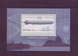 """Germania 2007 - Dirigibile """"Graf Zeppelin"""" - BF68 MNH** Integro - [7] Federal Republic"""