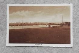 Cartolina Illustrata Massaua - Panorama Del Porto, Per Vezzano - Eritrea